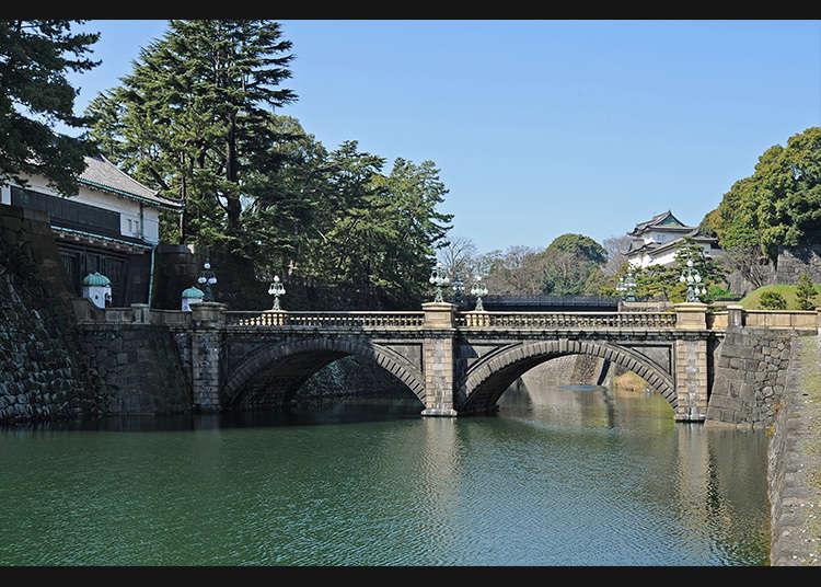 Tempat terkenal dan Nijubashi (Jambatan kembar)