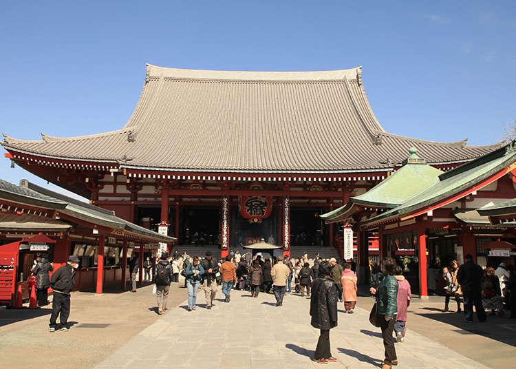 Cara berjalan di Senso-ji