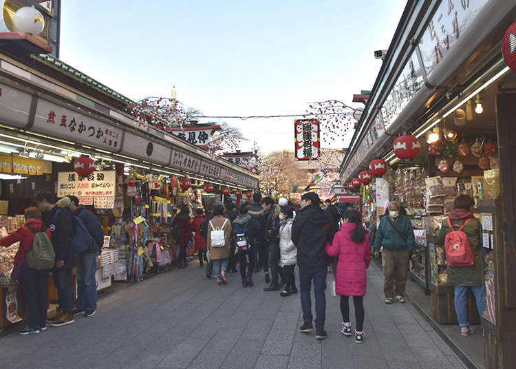 Shopping in Nakamise Street