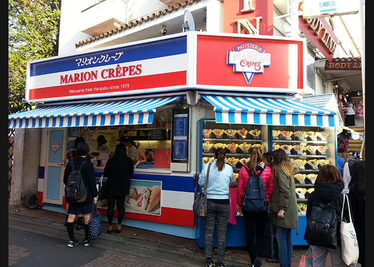 The ever-popular crepe shops!