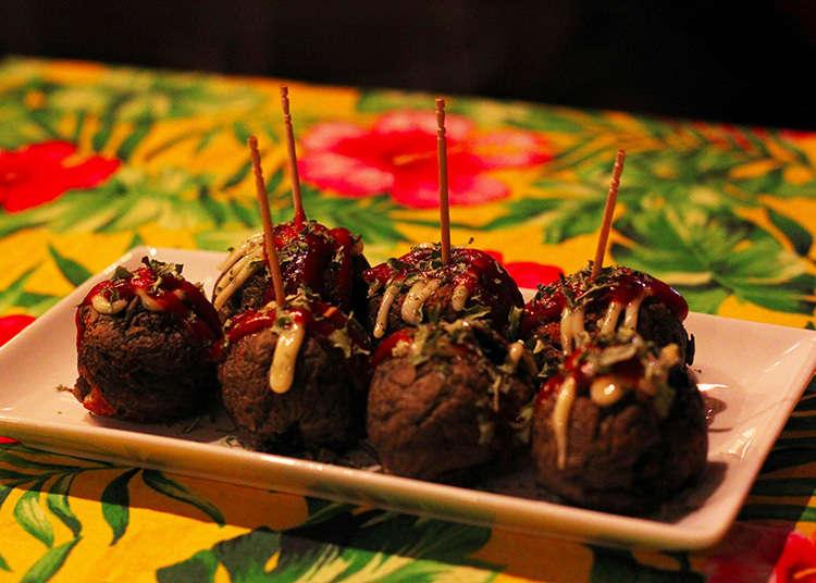 黑辣妹咖啡廳的著名餐點「黑辣妹章魚燒」