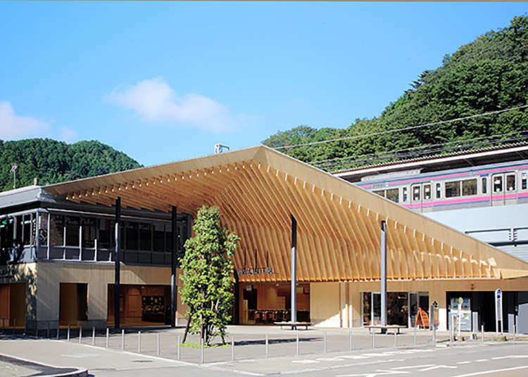 The modern-art aesthetic of the new station building