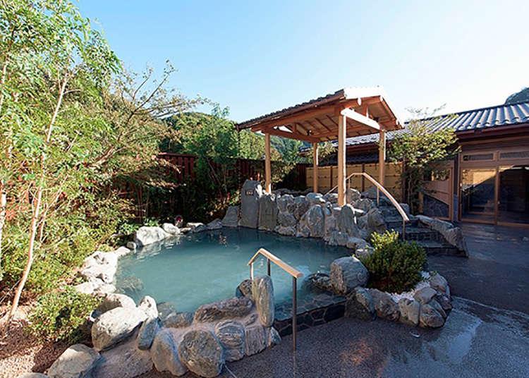 Kemudahan higaeri onsen (kolam air panas semula jadi Jepun) di