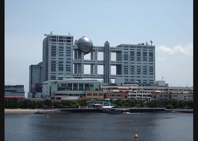 在「富士電視台」的球形瞭望室看到絕佳景色