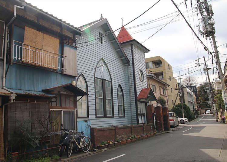 """Bangunan gaya Barat """"Gereja Nezu"""" yang dibina pada tahun 1900-an"""