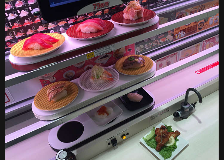 3段の高速レーンで寿司を直送