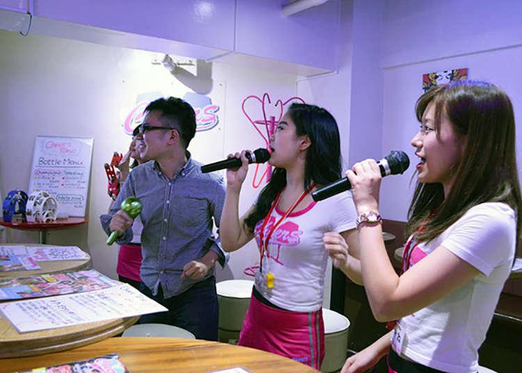 Persembahan karaoke dan tarian!
