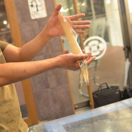 コリッコリの活イカが絶品の東京イカセンターとは