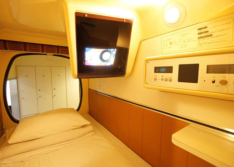 Stay at a Japanese Capsule Hotel
