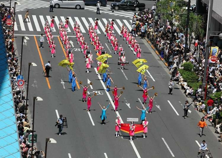 Ginza Willow Festival and Its Impressive Parade