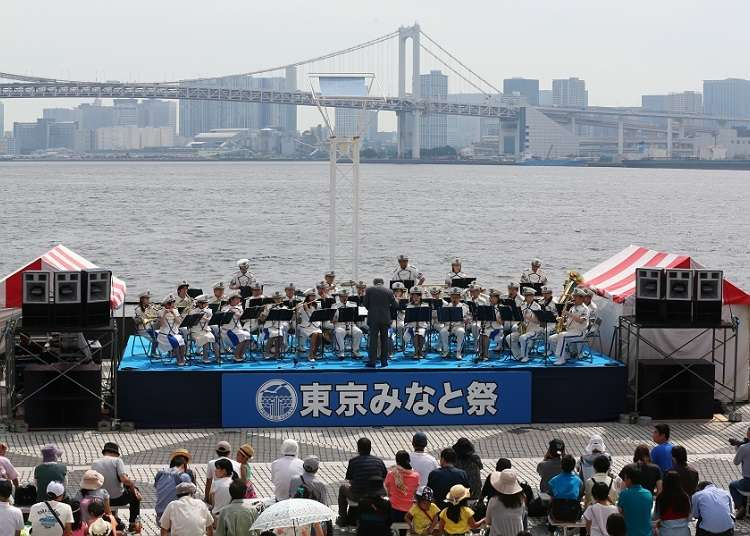 Melihat Kapal Khusus di Tokyo Minato Matsuri (Port Festival)