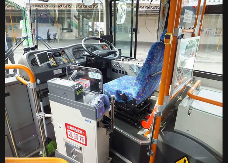固定线路公共汽车的主要上下车方法。