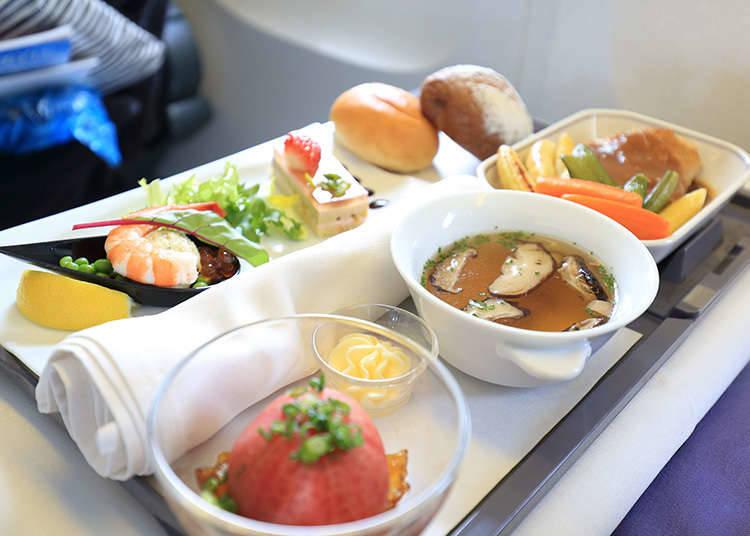 Hidangan di dalam pesawat