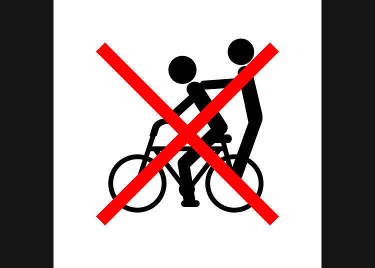 Don't ride in tandem on one bike!