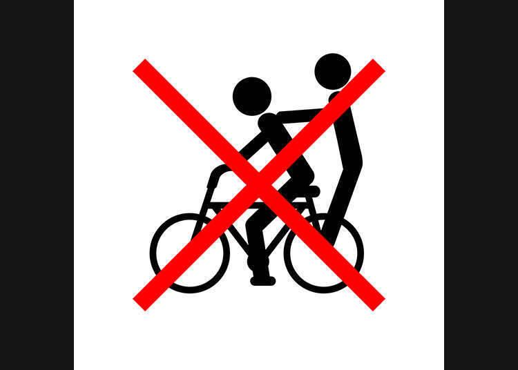 Dilarang menunggang dengan 2 orang!