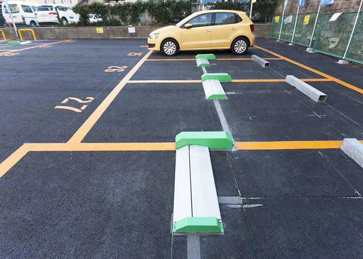 Tempat Parkir Dengan Flap (Penutup)