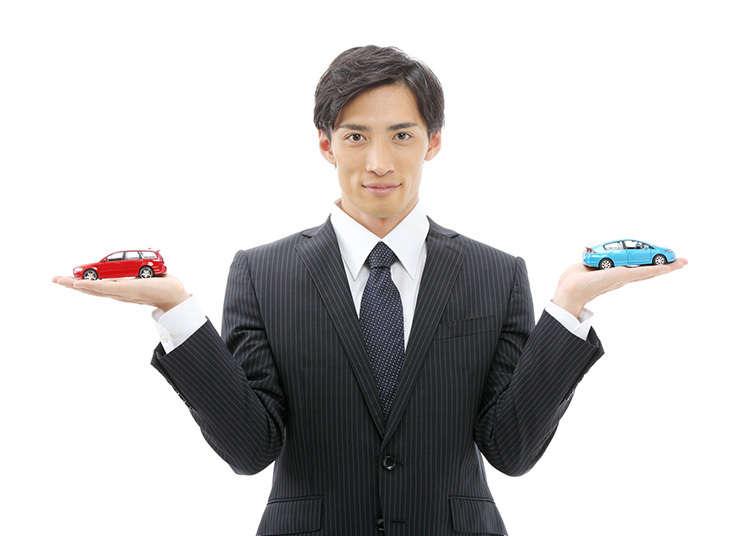 レンタカー会社を選ぶ