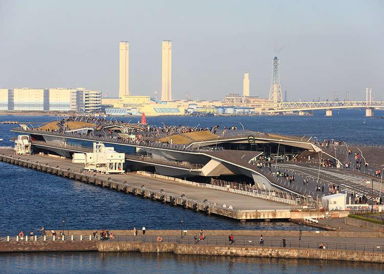 Terminal kapal antarabangsa Osanbashi di pelabuhan Yokohama.