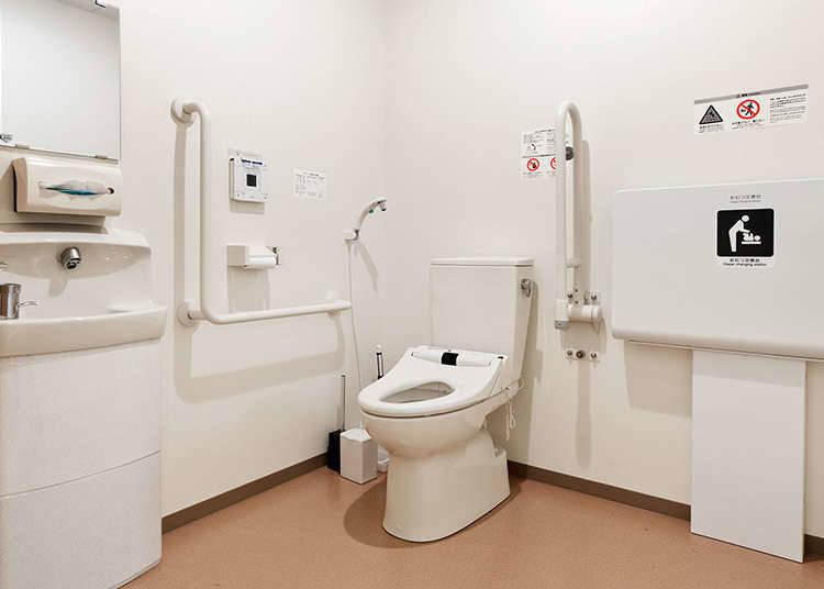 無障礙廁所的使用方法。