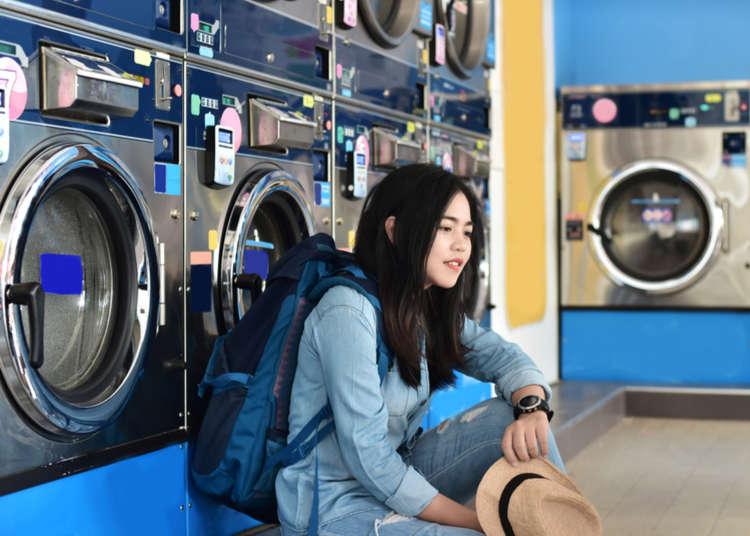 超方便的日本投幣式自助洗衣機