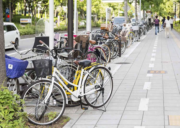 自行车要落锁