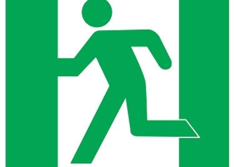 Piktogram untuk pintu keluar darurat