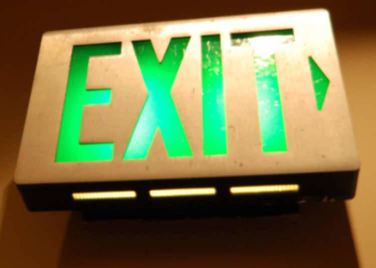 Lampu panduan ke pintu kecemasan