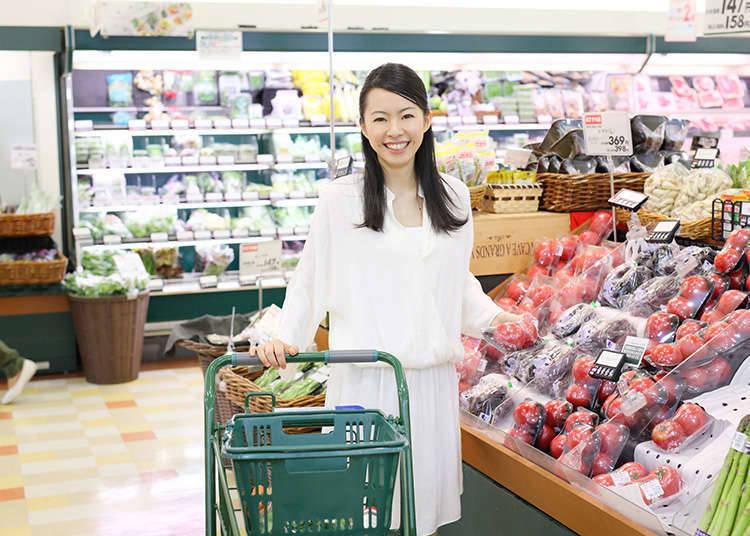 在超市的時候