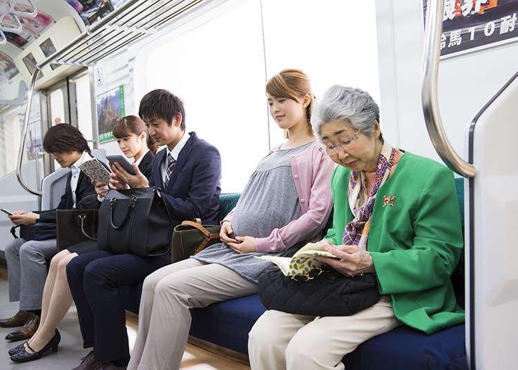 搭乘電車等的大眾交通工具時該注意的禮儀