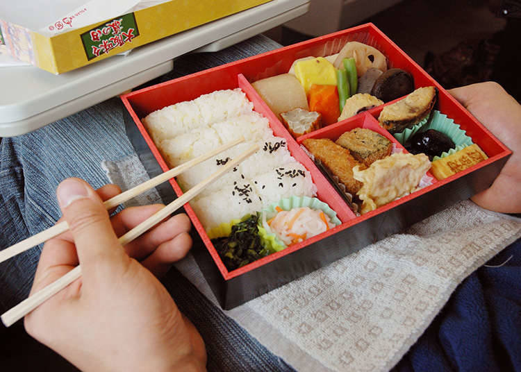 Eating and drinking on the train