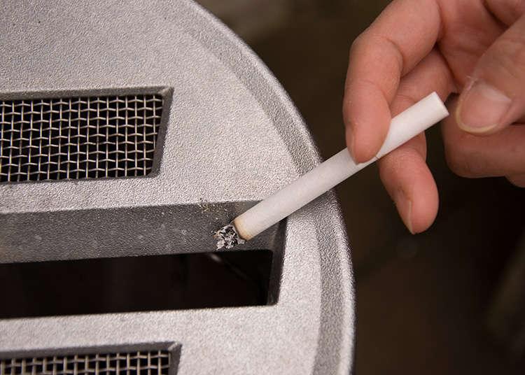 路上での喫煙はマナー違反
