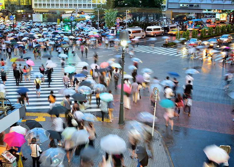 澀谷的全向十字路口