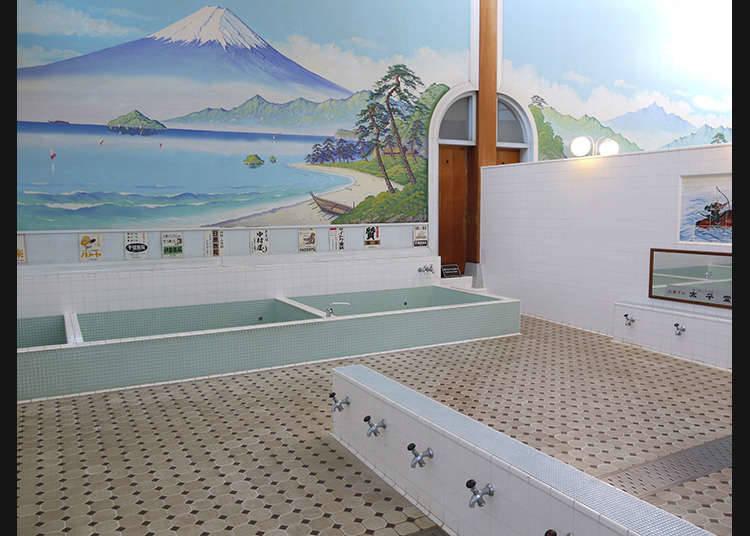 Menghabiskan masa dengan tenang di fasiliti bilik mandi