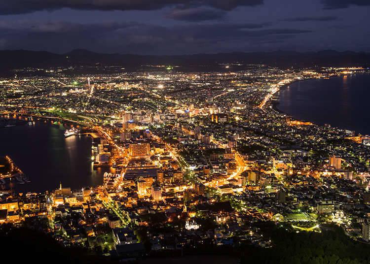 从山上观赏夜景