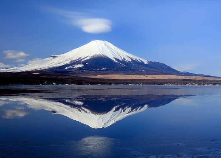 可以看见富士山的风景