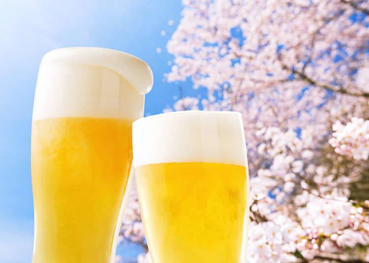 """Bunga pada musim bunga dan """"Hanami""""(melihat-lihat bunga)"""