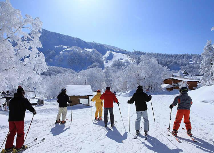 Bersukaria dengan permainan ski dan onsen (kolam air panas)