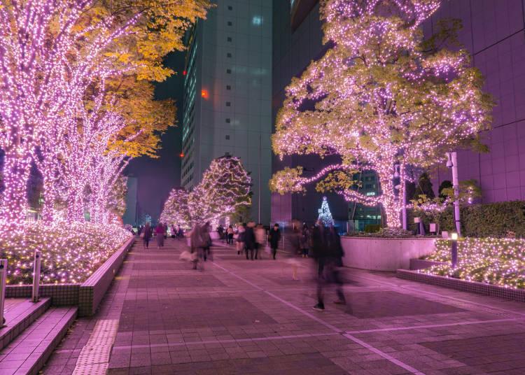东京冬日的彩灯装饰