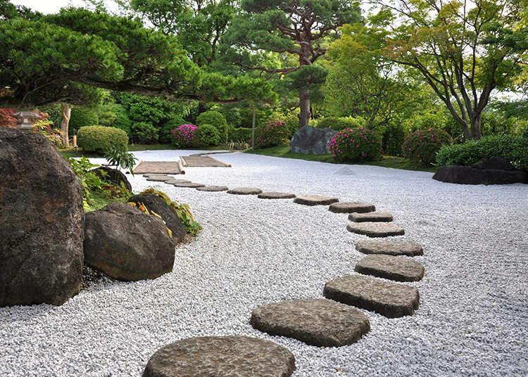 日本庭園のある美術館