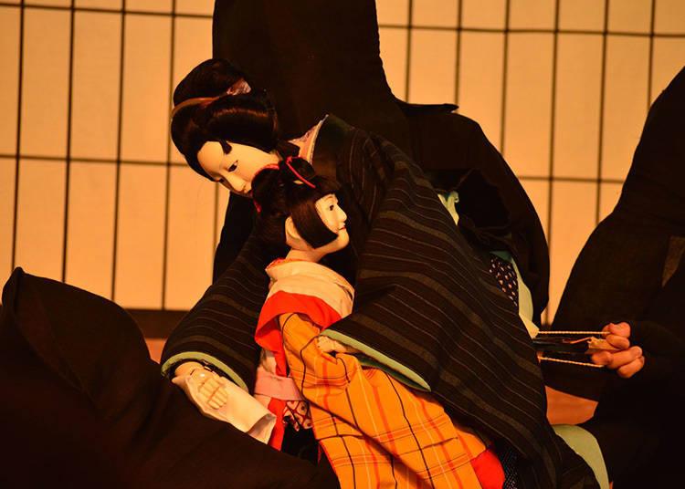 บทบาทการแสดงในละครหุ่นเชิดญี่ปุ่น