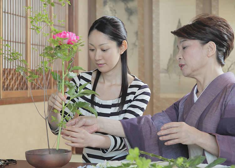 Cara mempamerkan ikebana