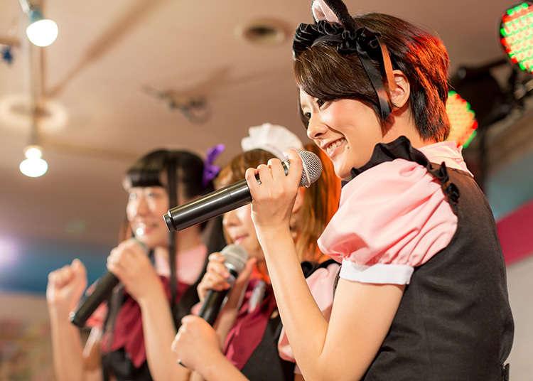 女性偶像的現場演唱