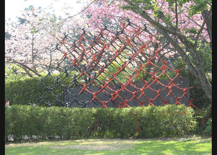 Museum kesenian yang mempunyai arca moden Jepun
