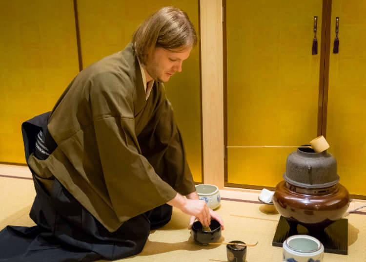 ปรสบการณ์วัฒนธรรม 4 พิธีชงชา เขียนพู่กันแบบญี่ปุ่น