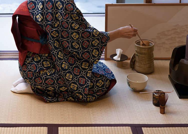 Pengalaman sado (upacara membancuh dan minum teh)