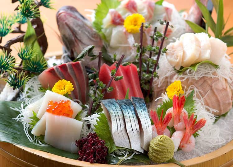 일본 요리의 플레이팅