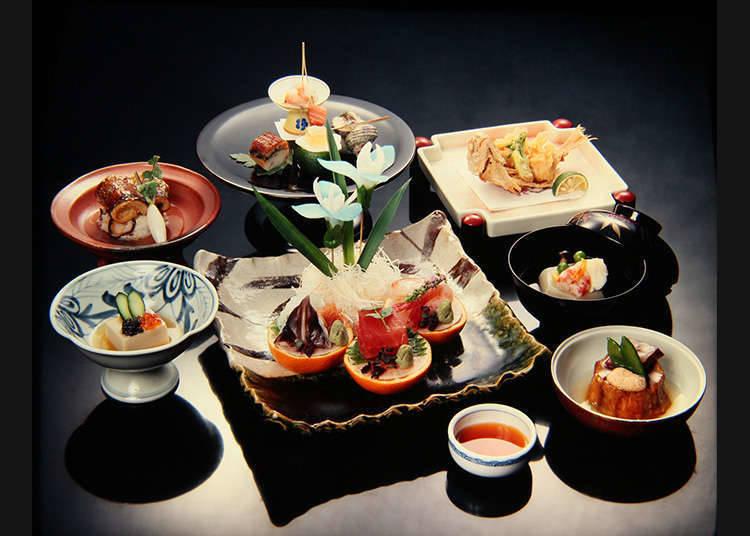 Masakan yang dihidangkan di Ryoutei
