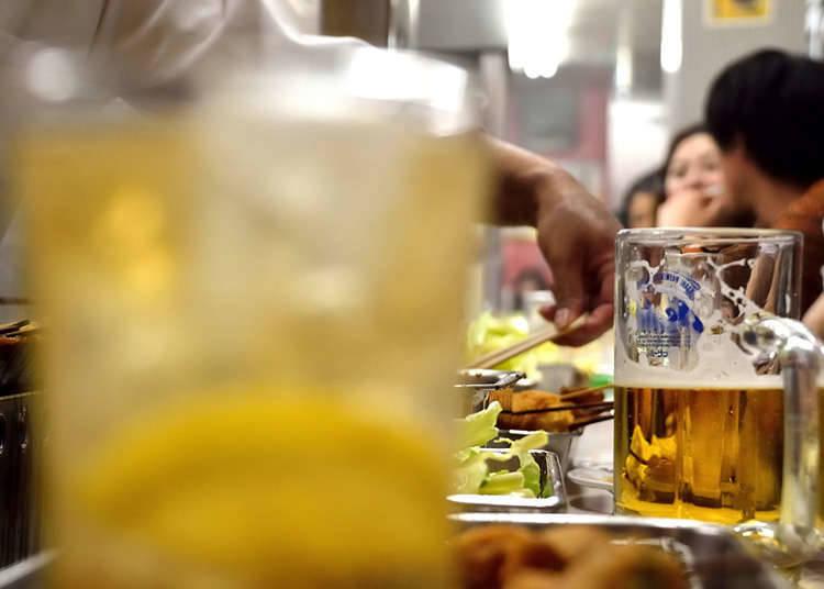 The types of kushiage and kushikatsu restaurants
