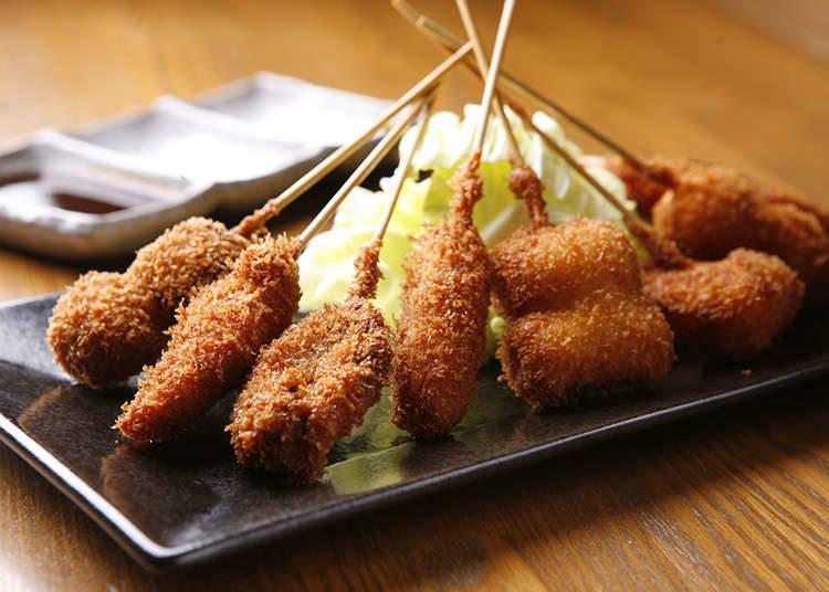 How to order and eat kushiage and kushikatsu