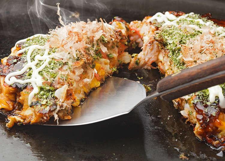Okonomiyaki, Monjayaki, dan Takoyaki
